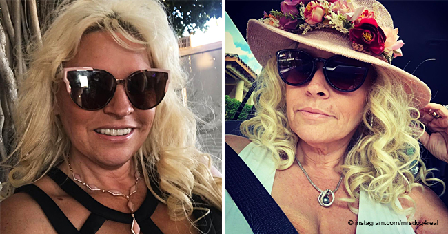 Beth Chapman Looks Radiant in a Sunhat with a Crown of Flowers Flaunting Her Cleavage in the Car