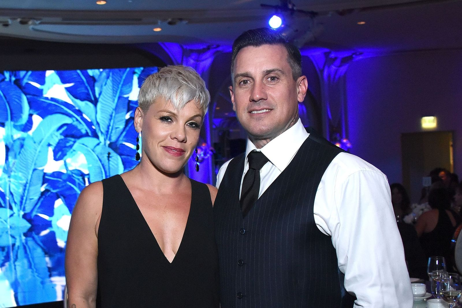 "P!nk and Carey Hart at the Autism Speaks' ""Into The Blue"" Gala at Beverly Hills Hotel on October 4, 2018 