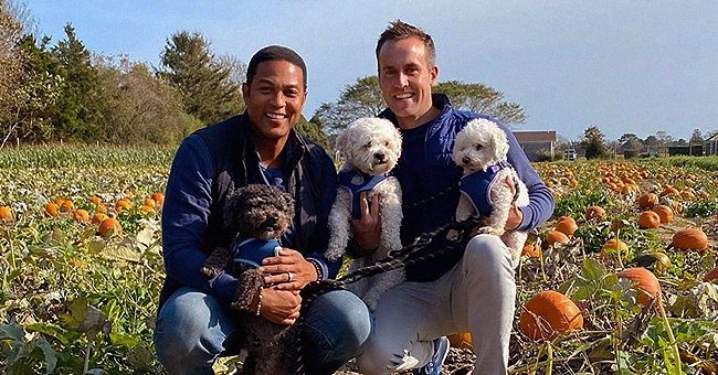 Don Lemon & His Fiancé Tim Malone Smile While Posing in a Pumpkin Patch with Their Dogs (Photo)