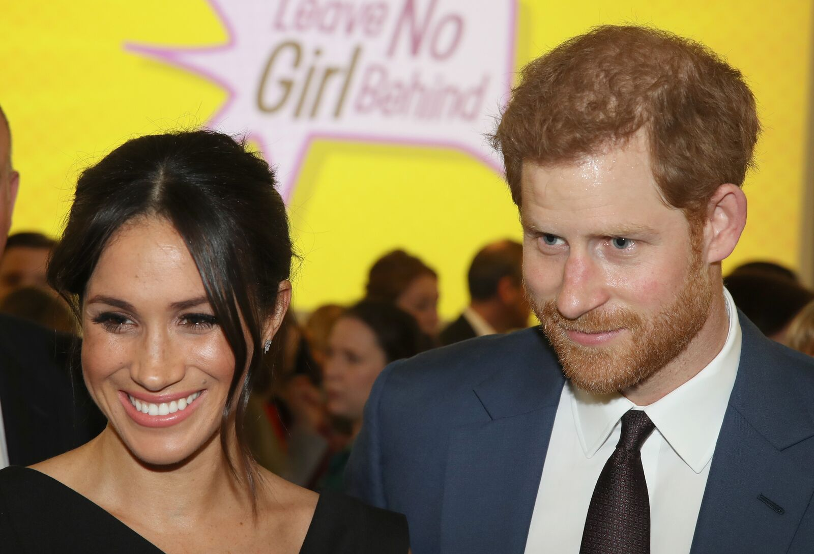 Meghan Markle and Prince Harry at the Women's Empowerment reception at the Royal Aeronautical Society. | Photo: Getty Images