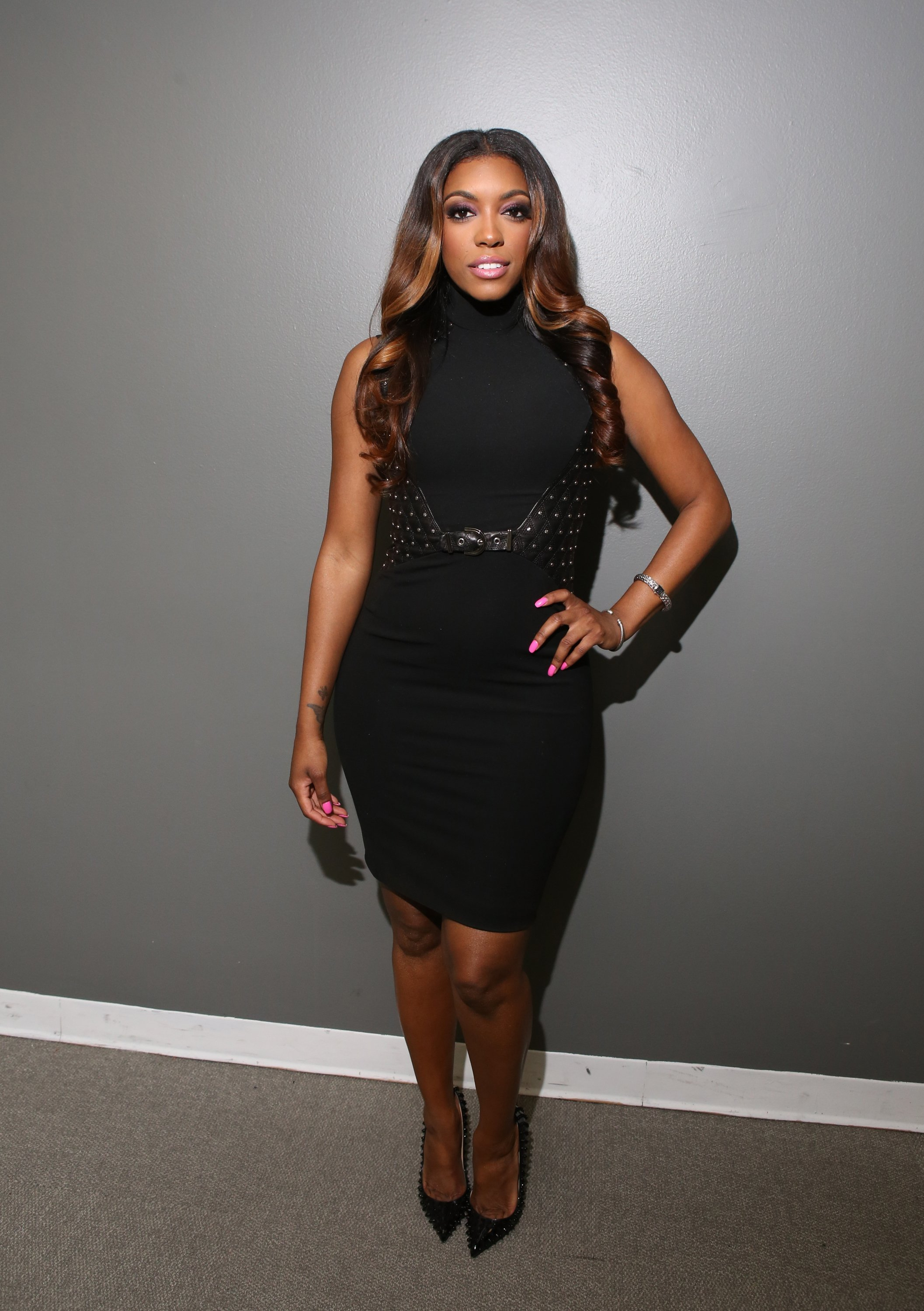TV personality Porsha Williams visits 106 & Park at BET studio   Photo: Getty Images