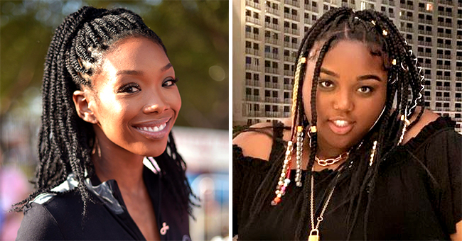 Brandy's Teen Daughter Sy'rai Poses in Black Dress with Hair in Bun in New Photo