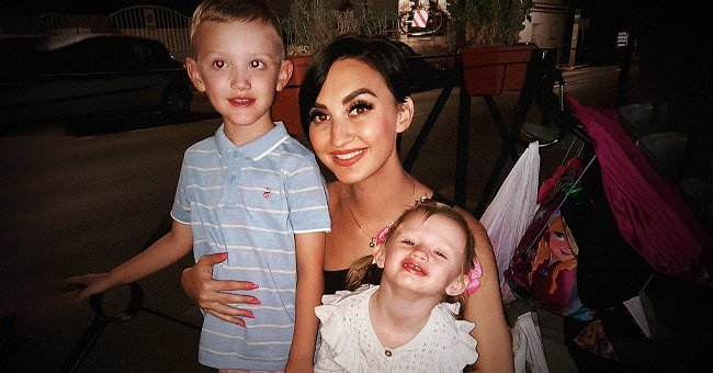 Sophie Crehan smiles with her kids George and Florence.   Source: Facebook.com/sophie.crehan.3