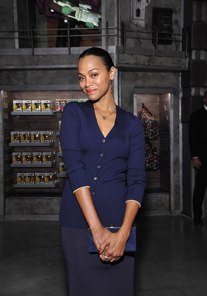 Zoe Saldana attending the Funko Hollywood VIP Preview Event in Hollywood on November 2019. | Photo: Getty Images