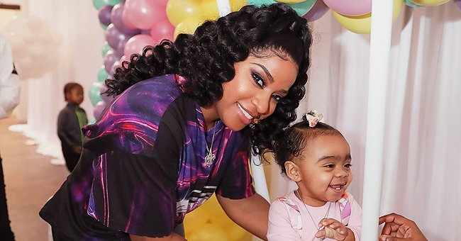 Toya Wright & Daughter Reign Strike Similar Poses as They Dress up in Matching Denim Outfits in Photo