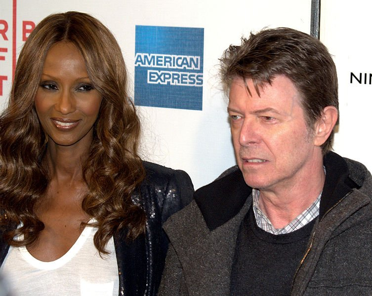 """Iman and David Bowie at the 2009 Tribeca Film Festival premiere of """"Moon."""" 