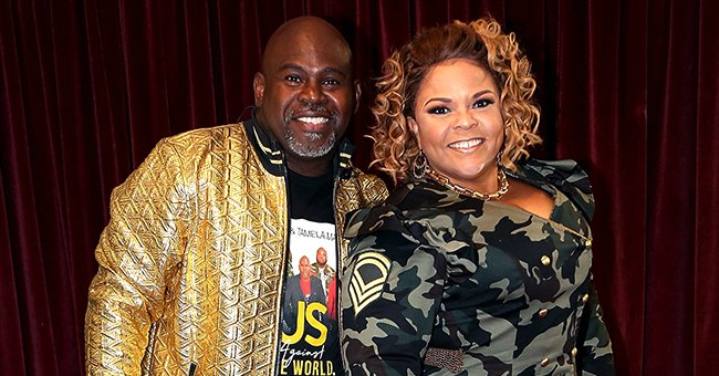 David Mann of 'Black Love' Cheers on as Wife Tamela Works out in Gym