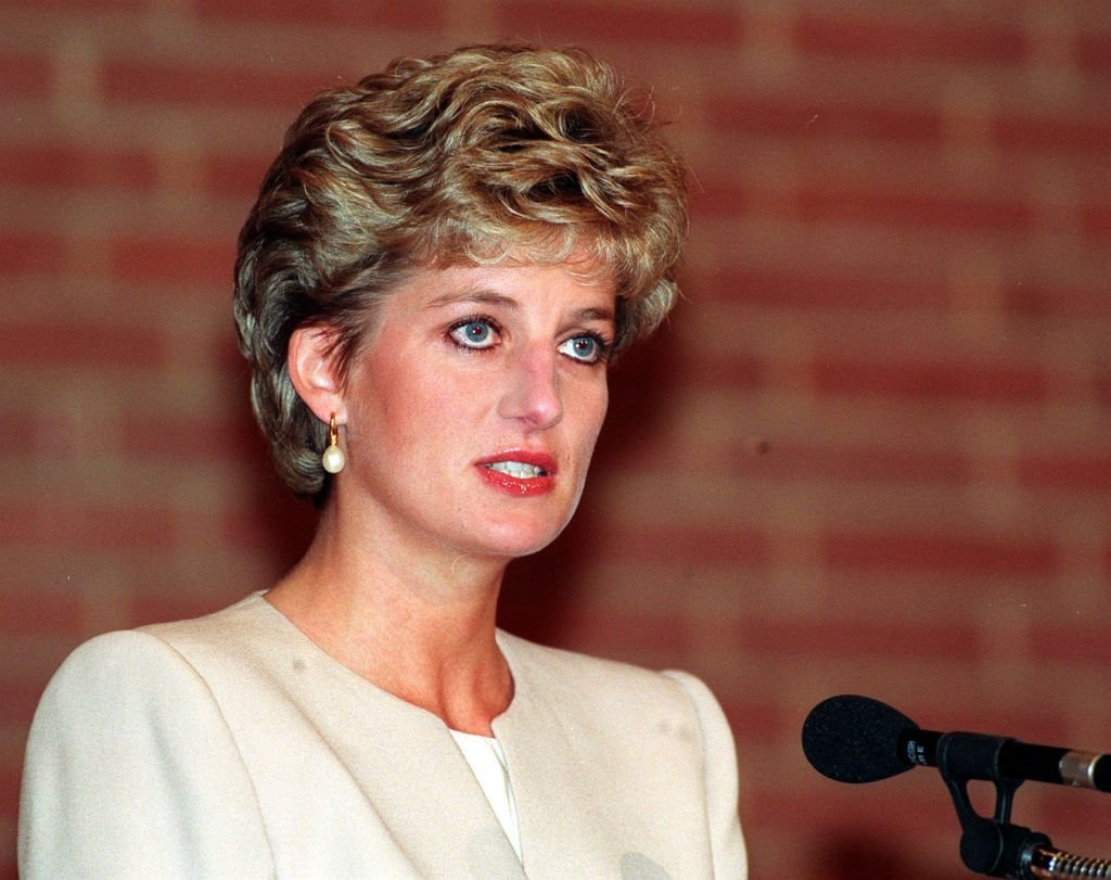 Princess Diana giving aspeech atthe Eating Disorders 93 Conference in Kensington, West London onApril 27, 1993 | Photo:Martin Keene - PA Images/Getty Images