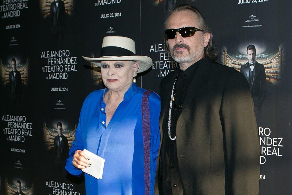 Lucía y Miguel Bosé.| Imagen tomada de: Getty Images/Global Images Ukraine