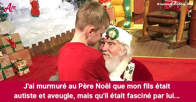Un garçon aveugle et autiste rencontre le père Noël pour la première fois et sa mère a été surprise du résultat