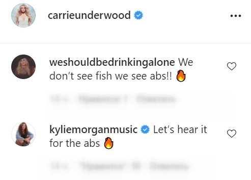Fans comment on a picture posted by Carrie Underwood   Photo: Instagram/carrieunderwood