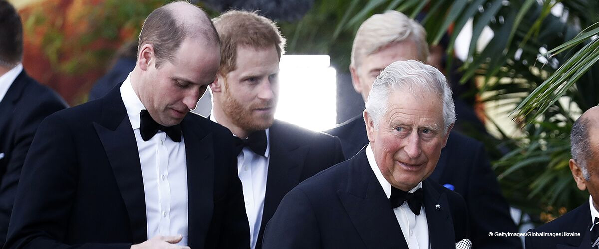 Prince Charles Joins Sons Harry and William in a Rare Joint Appearance Wearing Stylish Suits