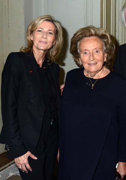 Claire Chazal et Bernadette Chirac assistent aux'Pieces Jaunes' | Getty Images