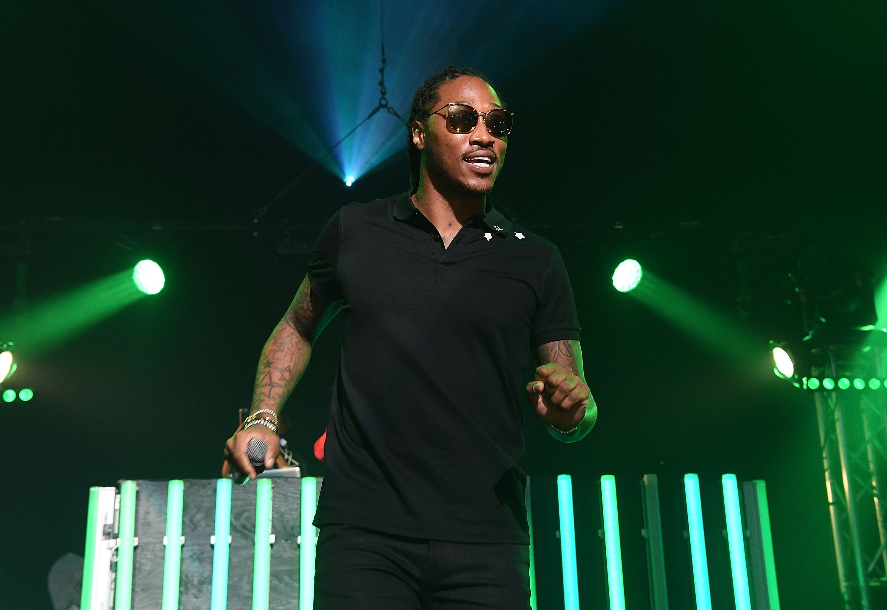 Rapper Future on stage at Gucci and Friends Homecoming Concert in Atlanta, Georgia on July 22, 2016 | Photo: Getty Images