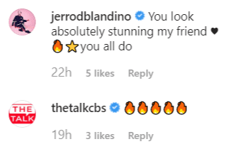 Jerrod Blandino and The Talk commented on Marie Osmond's Post | Instagram: @marieosmond