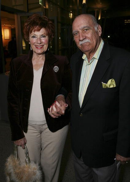 """Marion Ross and Paul Michael arrives at the opening night performance of Edward Albee's """"Who's Afraid of Virginia Woolf?"""" held at CTG/Ahmanson Theatre on February 9, 2007, in Los Angeles, California. 