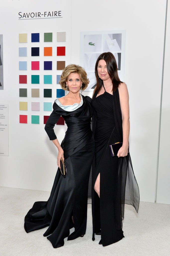 Actor Jane Fonda and stylist Tanya Gill attend The 19th CDGA (Costume Designers Guild Awards) with Presenting Sponsor LACOSTE at The Beverly Hilton Hotel | Getty Images