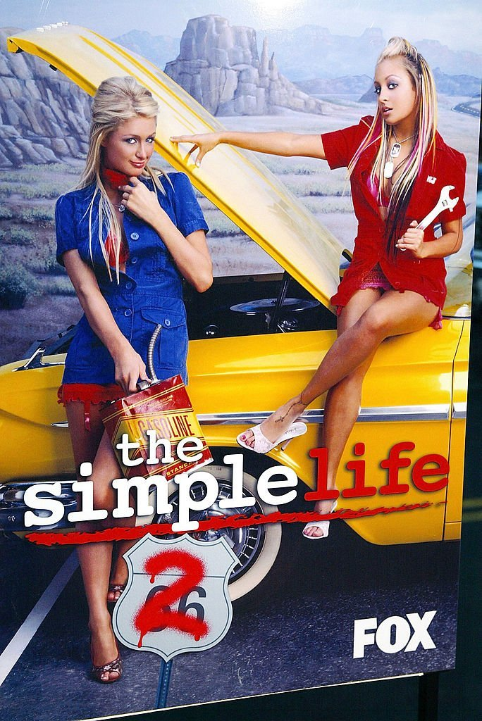 """Paris Hilton and Nicole Richie appear on a poster for """"the Simple Life 2"""" 