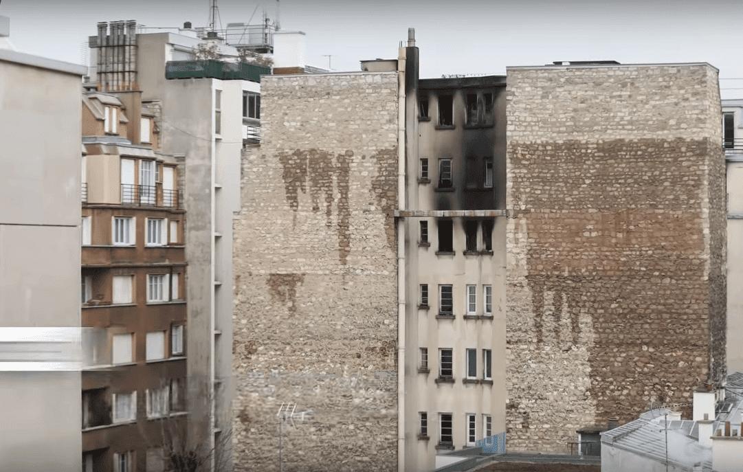 Des images de l'immeuble aprs l'incendie   Youtube/Le Parisien