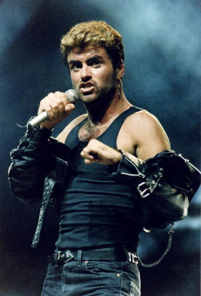 George Michael at Earls Court Arena on June 15th, 1988 in London, England.   Photo: Getty Images