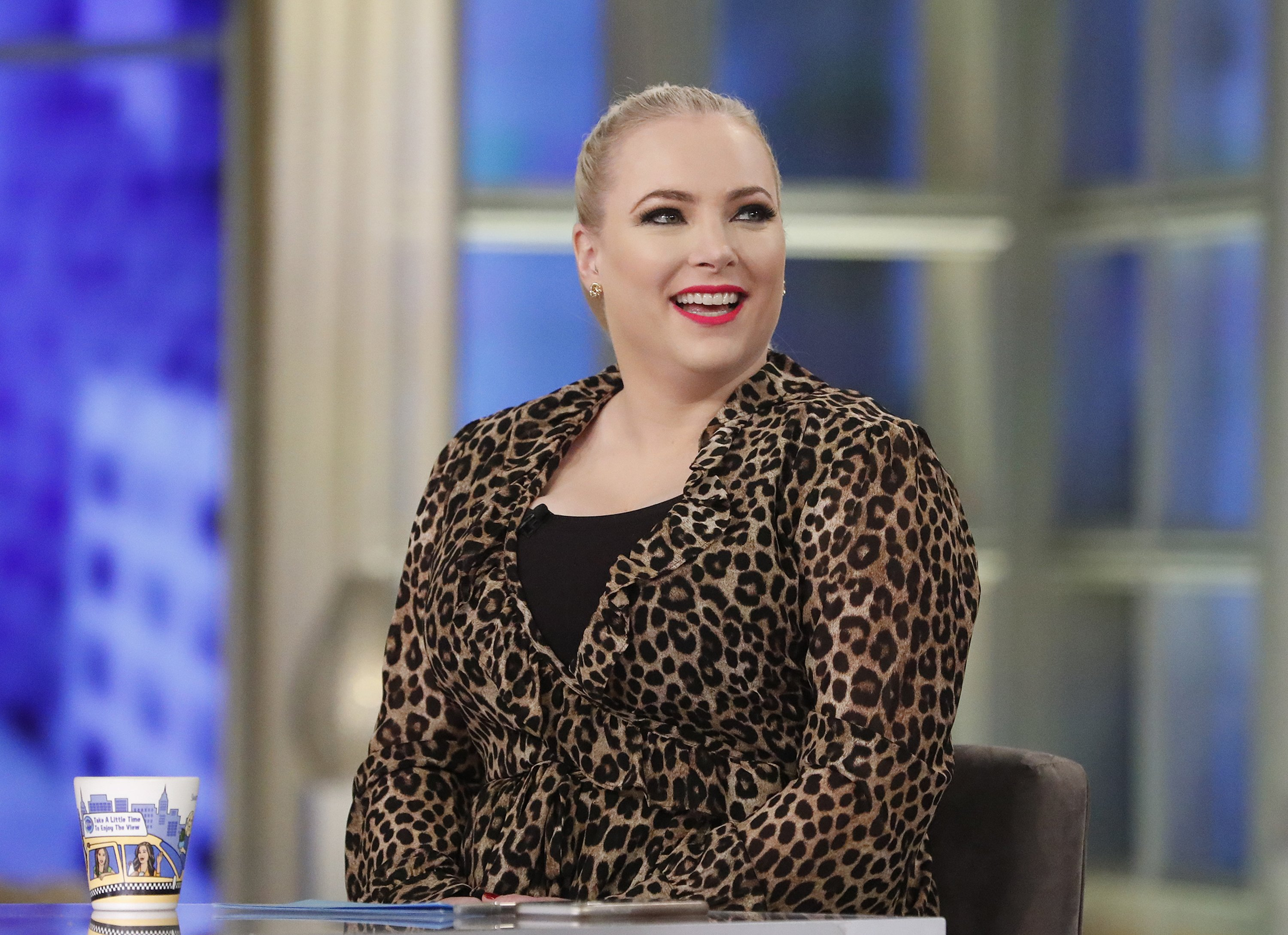 "Meghan McCain pictured  ABC's ""The View"" in 2019. 