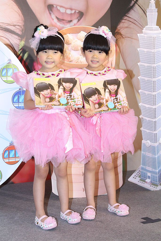 Twin sisters Yony&Zony release photo album on Thursday July 10,2014 in Taipei,China. | Getty Images