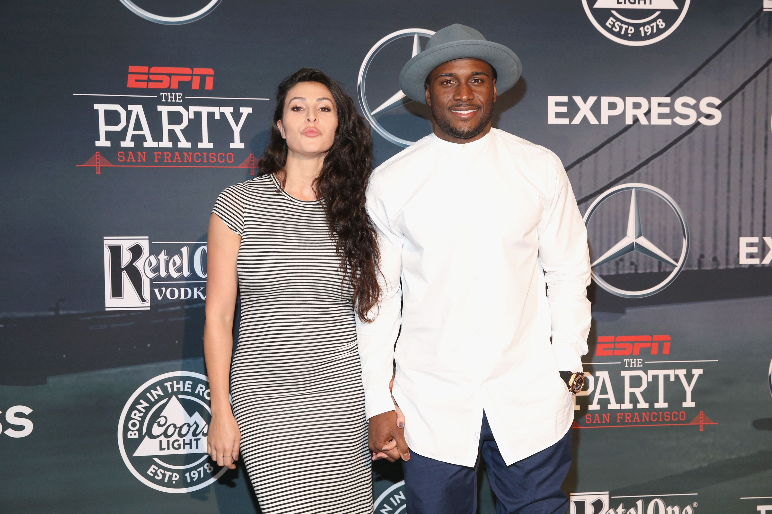 Lilit Avagyan and Reggie Bush at ESPN The Party on February 5, 2016. | Source: Getty Images