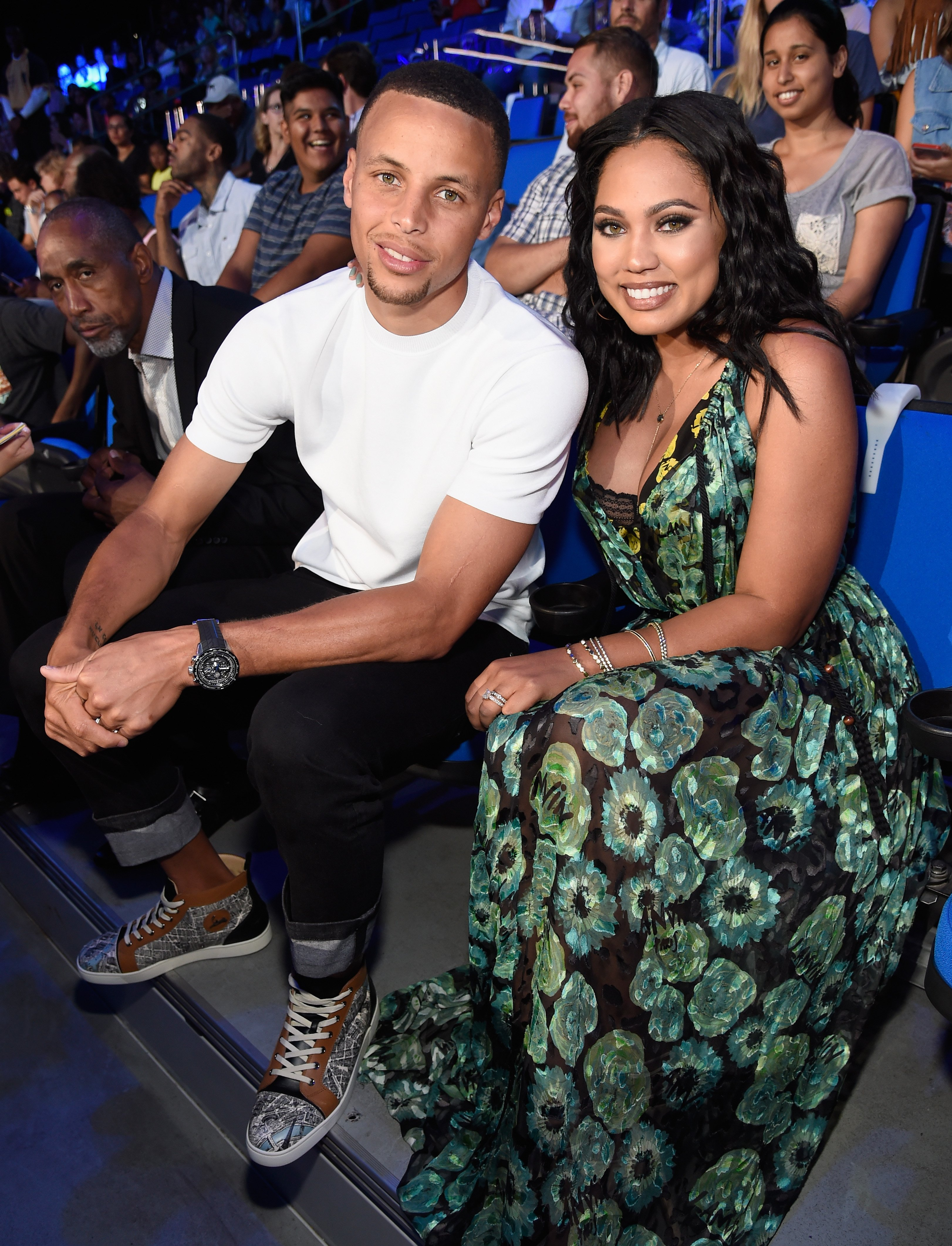 Ayesha and Stephen Curry attend the Nickelodeon Kids' Choice Sports Awards 2016 on July 14, 2016 in Westwood, California.   Source: Getty Images