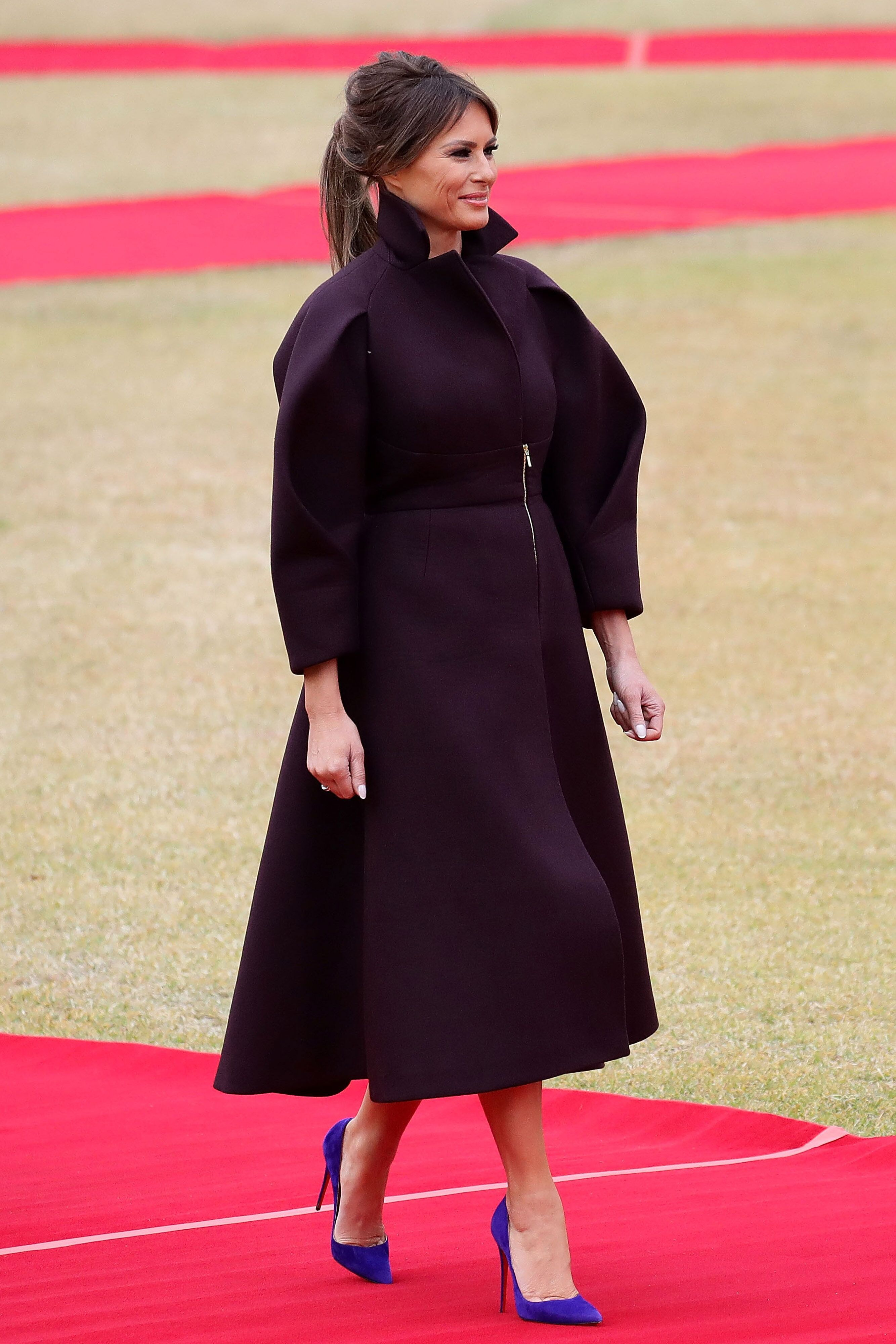 Melania Trump during a welcoming ceremony held at the presidential Blue House on November 7, 2017 in Seoul, South Korea. | Photo: Getty Images