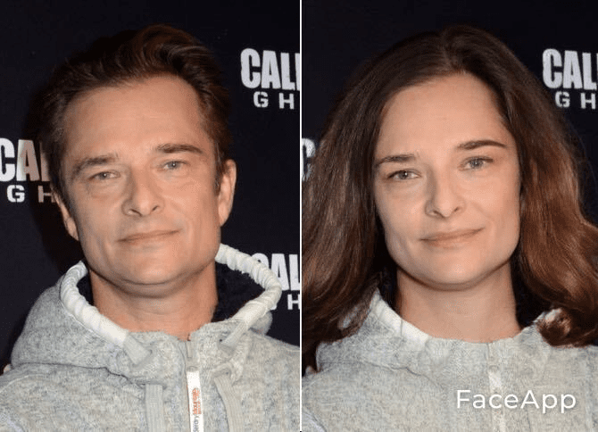 David Hallyday en femme. l Source : Getty Images/Face App