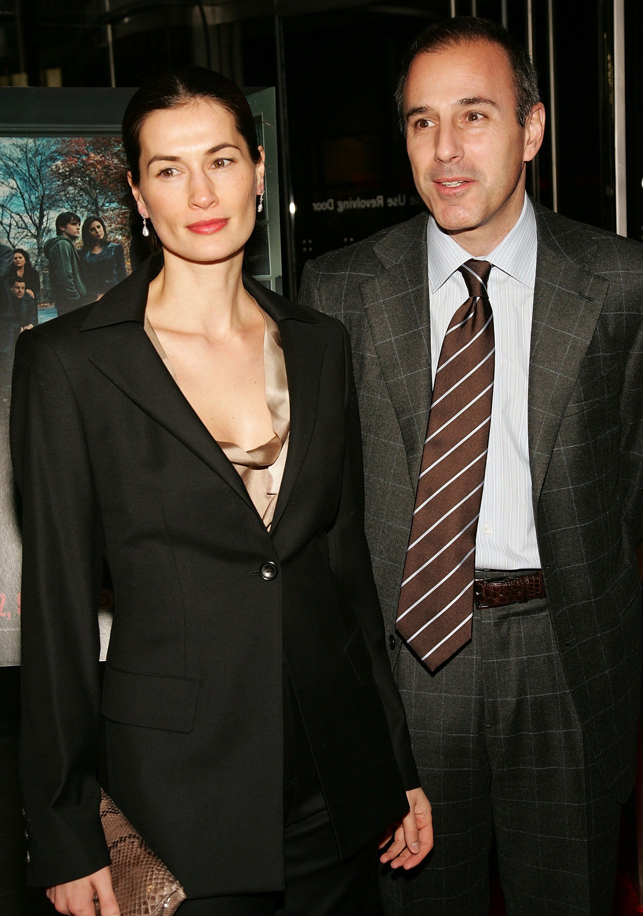 """Matt Lauer and wife Annette Roque at the sixth season premiere of the HBO series """"The Sopranos.""""   Source: Getty Images"""