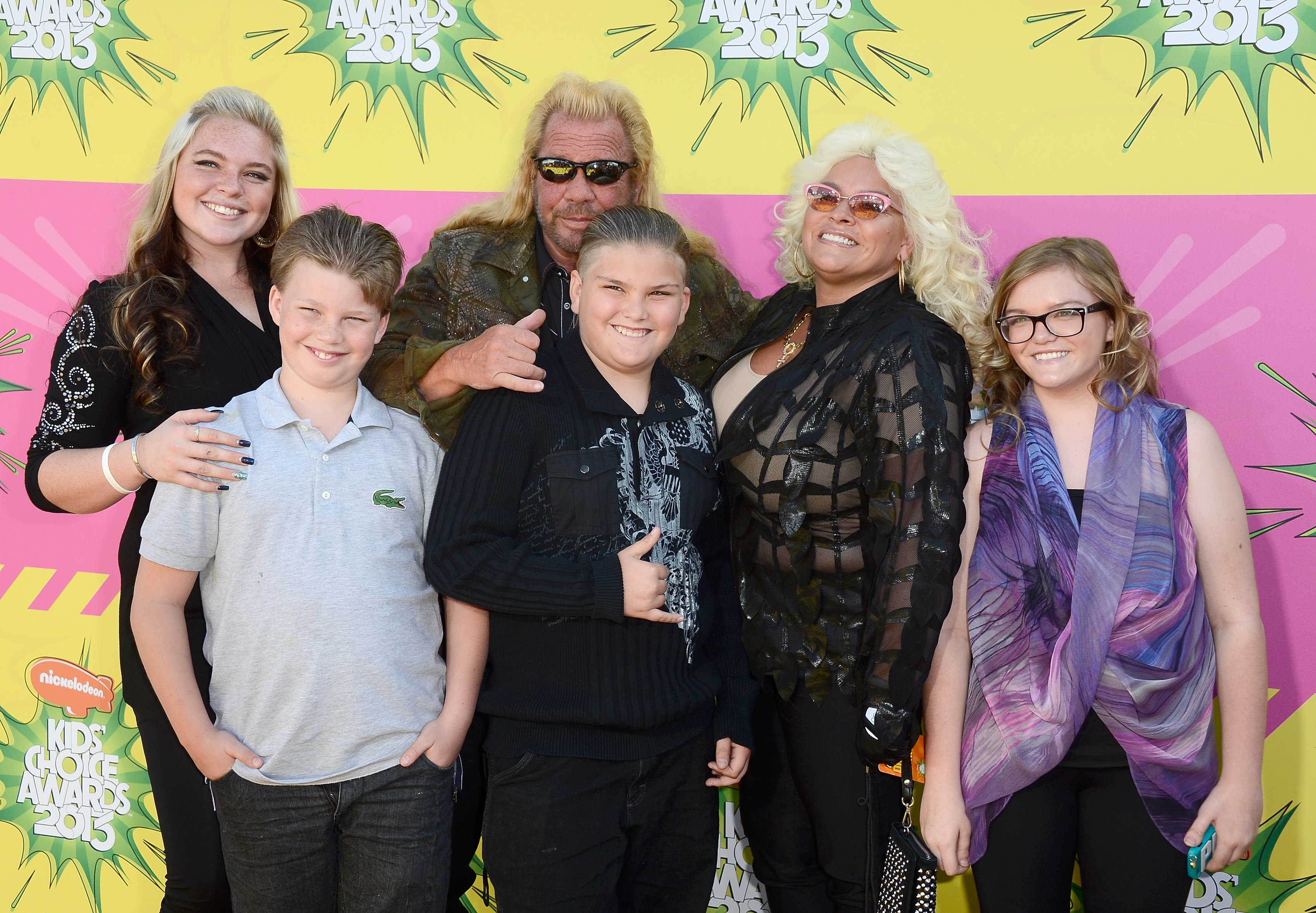 """Duane """"Dog"""" Chapman, Beth Chapman, and their family at Nickelodeon's 26th Annual Kids' Choice Awards at USC Galen Center on March 23, 2013 in Los Angeles, California 