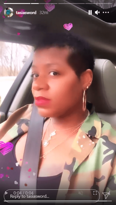 Fantasia Barrino takes a cute selfie wearing a camo jacket while seated in her car. | Photo: Instagram/Tasiasword