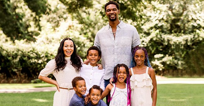 NBA Star Chris Bosh Shares Beautiful Family Photo with Wife Adrienne & All of Their Kids