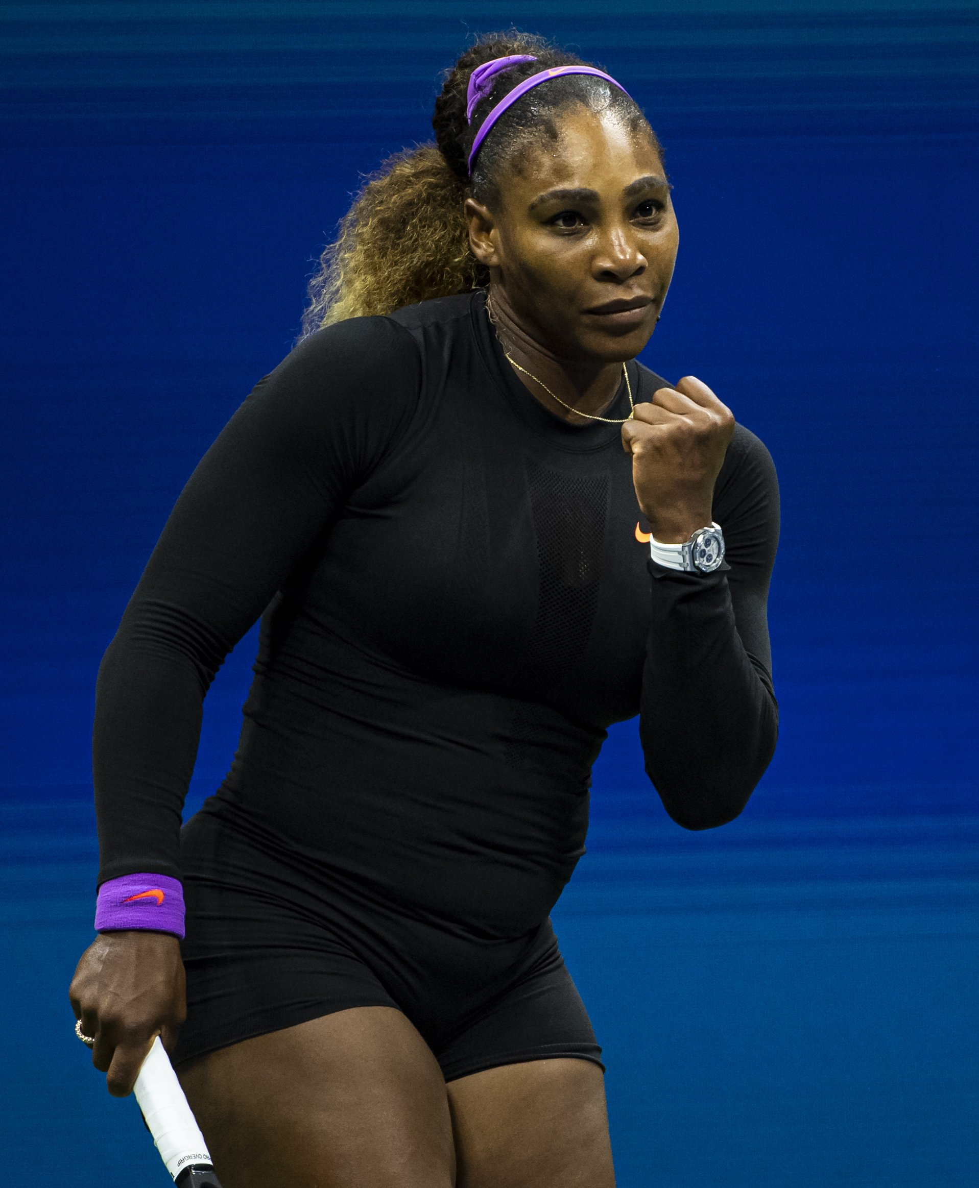 Serena Williams celebrates her victory at the USTA Billie Jean King National Tennis Center on September 05, 2019, in New York City.   Source: Getty Image.