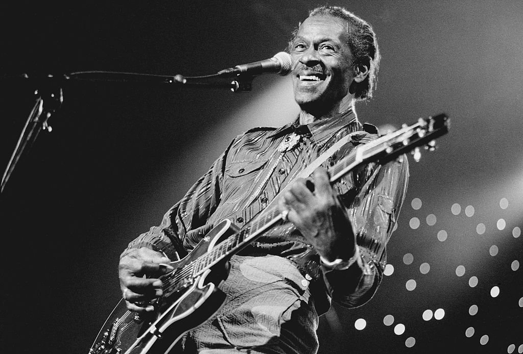 Chuck Berry, vocal-guitarist, performs at the North Sea Jazz Festival in the Hague, Netherlands on 14th July 1995 | Photo: Getty Images