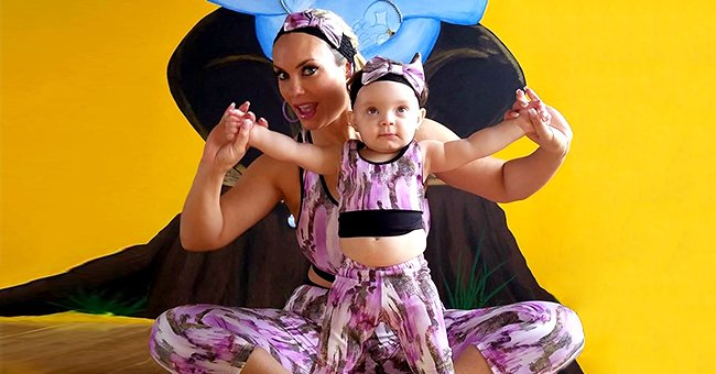 Ice-T's Wife Coco Austin & Daughter Chanel Do Yoga in Matching Pink Outfits