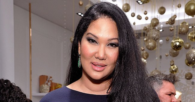 Kimora Lee Simmons' Daughter Ming Displays Her Curves Posing in a Sheer Tight-Fitting Jumpsuit
