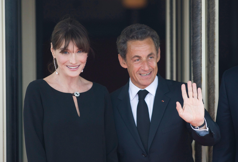 Nicolas Sarkozy et sa femme Carla Bruni