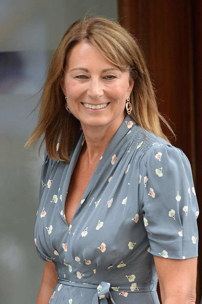 Carole Middleton arrives at The Lindo Wing to visit The Duchess Of Cambridge and her newborn son at St Mary's Hospital | Photo: Getty Images