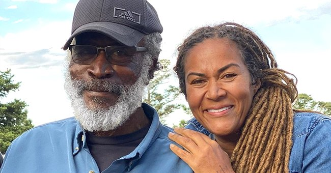 John Amos' Daughter Shannon Celebrates 55th Birthday while Posing in Plunging Blue Dress in Stunning Pics