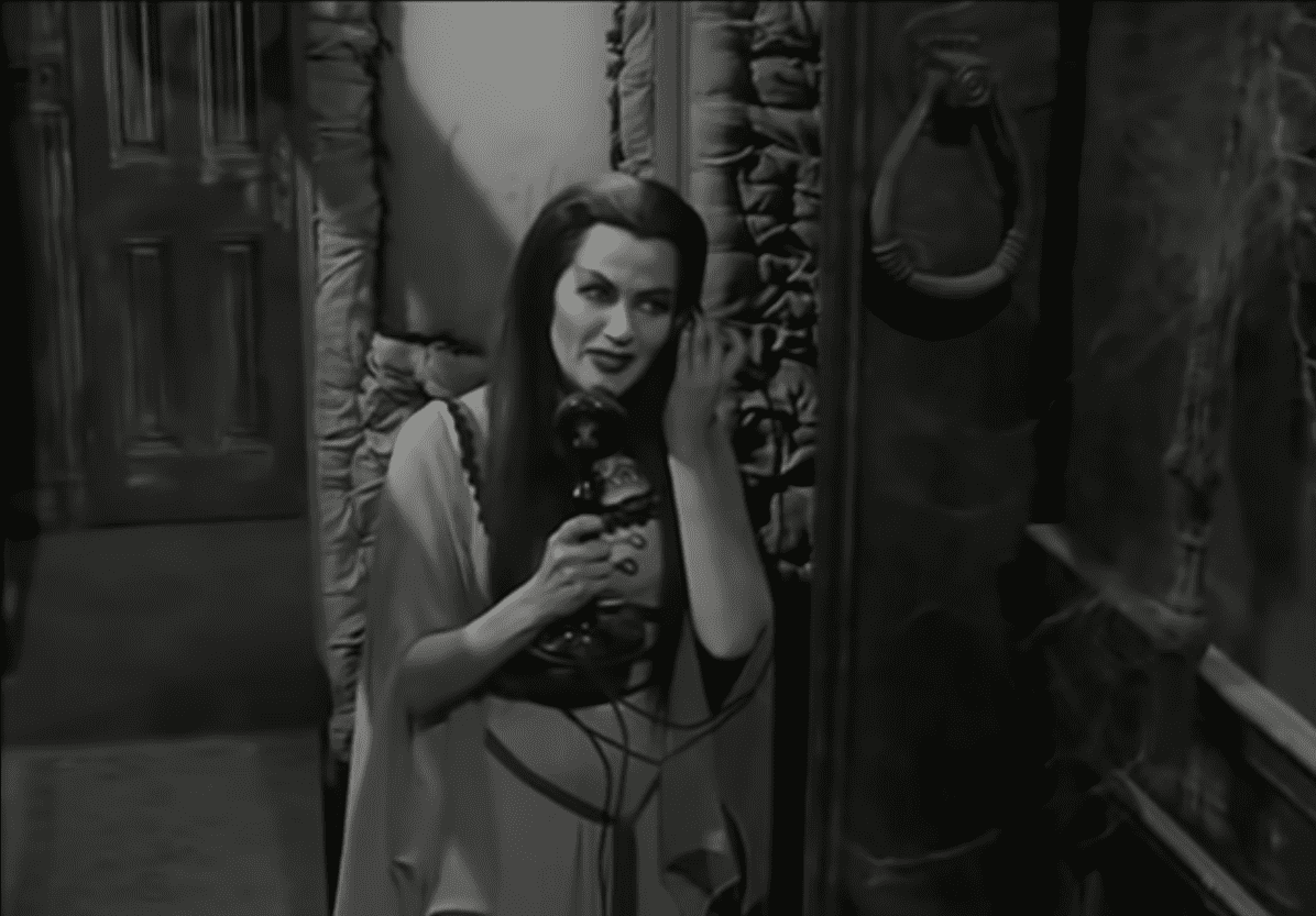 Screenshot from a video showing Yvonne De Carlo as Lily Munster from 14 May 2020. | Source: YouTube/ The Munsters