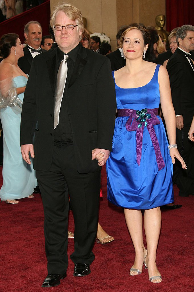 """Philip Seymour Hoffman, nominee Best Actor in a Leading Role for """"Capote"""" and guest Mimi O'Donnell 