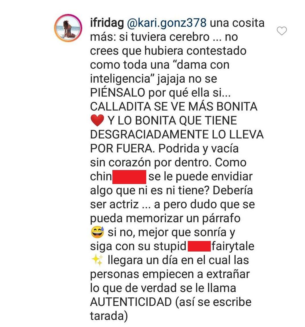 Comentario final de Frida.  | Imagen: Instagram/ Ifrida