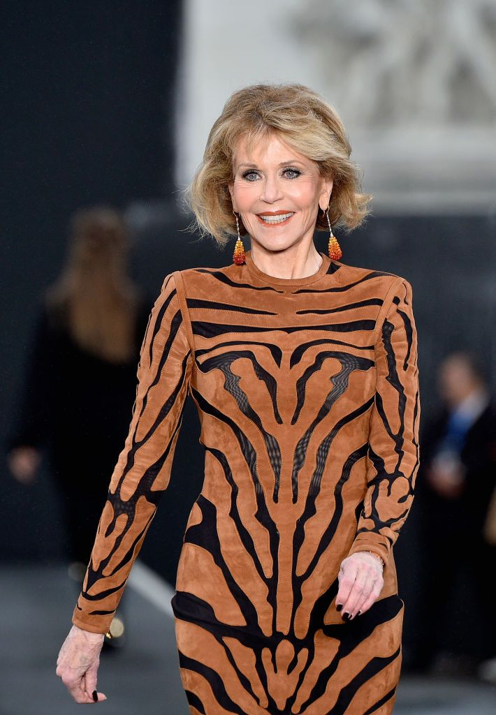 Jane Fonda at the rehearsal before Le Defile L'Oreal Paris as part of Paris Fashion Week Womenswear Spring/Summer 2018 at Avenue Des Champs Elysees on October 1, 2017 in Paris, France. | Photo: Getty Images