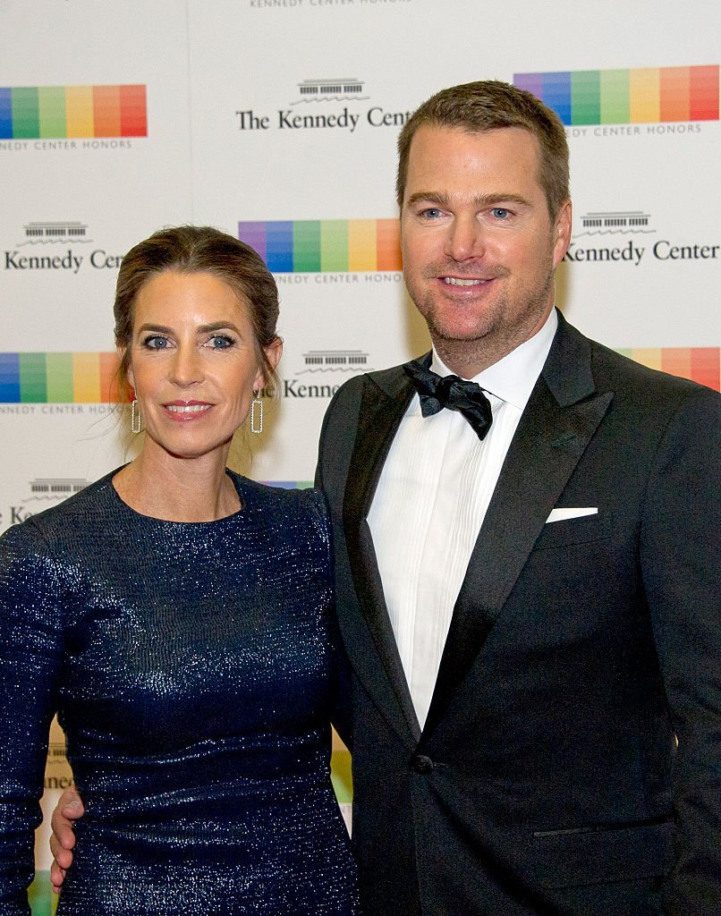 Chris O'Donnell and his wife Caroline Fentress. I Image: Getty Images.