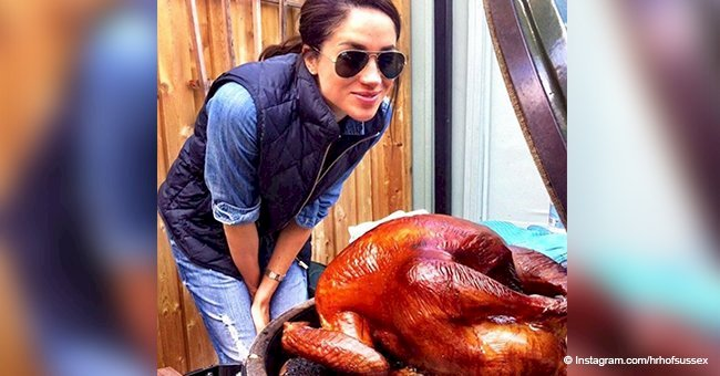 Meghan Markle 'roasted a pretty perfect Thanksgiving turkey' in throwback photo