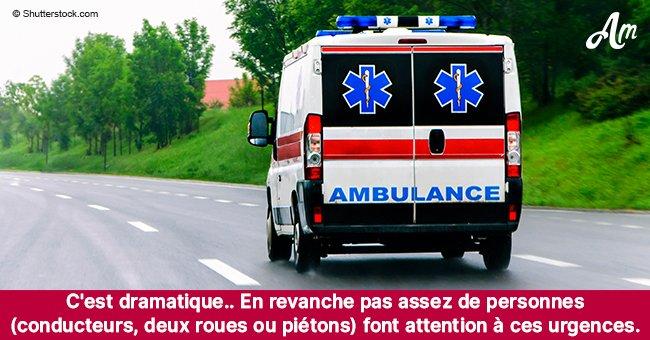 Une femme a été percutée par un convoi médical pressé de porter des greffes à l'hôpital