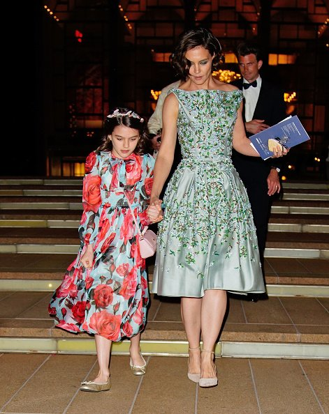 Katie Holmes and Suri Cruise at Lincoln Center on May 21, 2018 in New York City.   Photo: Getty Images