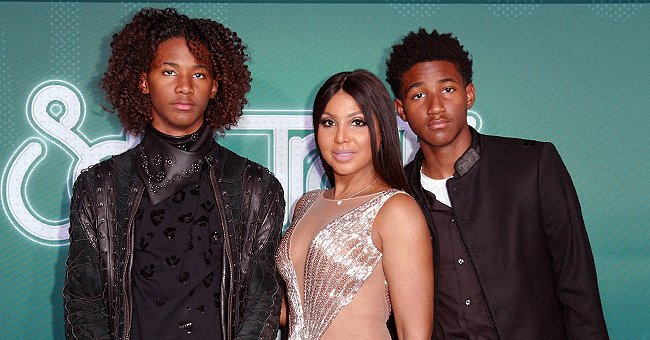 Toni Braxton Celebrated Christmas with Her 2 Grown Sons and Black Santa